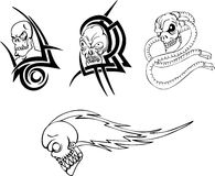 Skull Tattoos Royalty Free Stock Photos