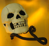 Skull telephone Stock Images