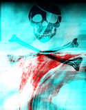 Skull texture 2. Fresh design with pirate skull 2 Royalty Free Stock Photo