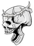Skull with thorn of crown Royalty Free Stock Photo