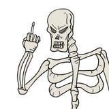 Skull threat Royalty Free Stock Photos