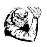 Skull thumb up Royalty Free Stock Images