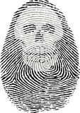 Skull thumbprint. Nice skull thumbprint on the white background Stock Photography