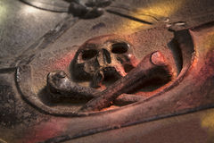 Skull on tombstone Stock Photography