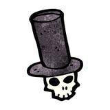 skull in top hat cartoon Stock Photos