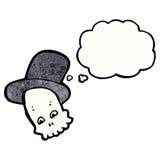 skull in top hat cartoon Stock Images