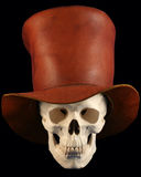 A Skull in a Tophat Stock Photos
