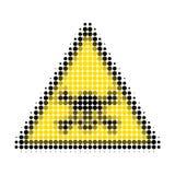 Skull Toxic Warning Halftone Dotted Icon stock illustration