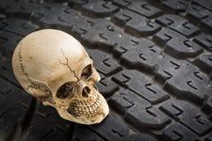Skull on tread Royalty Free Stock Photos