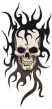 Skull tribal tattoo Royalty Free Stock Images