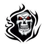 Skull tribal tattoo.grim reaper tattoo. Skull tribal tattoo.grim reaper tattoo.vector illustration Stock Photos