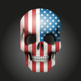 Skull with USA flag Stock Photography