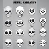 Skull variants. For multi purpose uses Stock Image