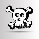 Skull vector dead skeleton halloween illustration cartoon. Skull vector dead skeleton halloween illustration Stock Photos