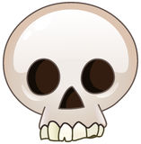 Skull. Vector design of a skull cartoon icon Stock Image