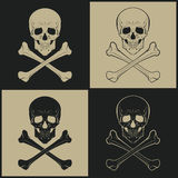 Skull vector icons Royalty Free Stock Photo