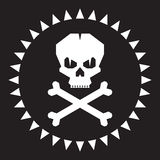 Skull Vector Illustration. Original graphic sign Royalty Free Stock Photos