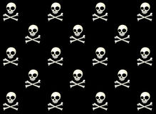Skull Vector Pattern  Royalty Free Stock Photos