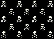 Skull Vector Pattern. Skull Halloween pattern, black and white vector vector illustration