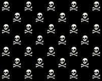 Skull Vector Pattern. Skull Halloween pattern,black and white vector Stock Photo