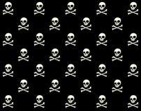 Skull Vector Pattern. Skull Halloween pattern,black and white vector vector illustration