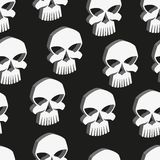 Skull vector seamless pattern Stock Images