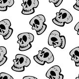 Skull vector seamless pattern Royalty Free Stock Photos