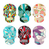 Skull Vector Set Royalty Free Stock Photo