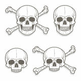 Skull vector set Royalty Free Stock Photos