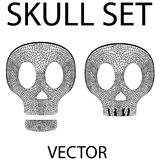 Skull vector set Royalty Free Stock Photography
