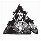 Pirate skull vector illustration for various design needs vector illustration