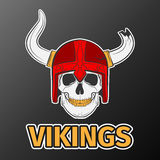 Skull viking Royalty Free Stock Images
