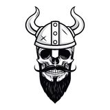 Skull of Viking Warrior Vector Illustration Royalty Free Stock Photography