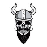 Skull of Viking Warrior Vector Illustration Royalty Free Stock Photography