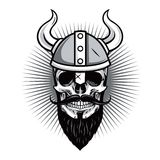 Skull of Viking Warrior Vector Illustration Royalty Free Stock Images