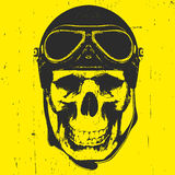 Skull with Vintage Helmet. Vector Stock Photography