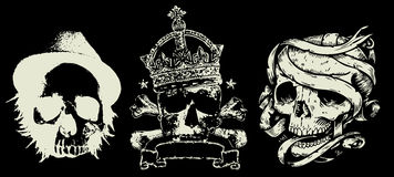 skull vintage Heraldic emblem Stock Photo