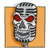 Skull vintage microphone Royalty Free Stock Photography