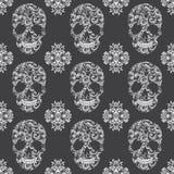 Skull Vintage Pattern Royalty Free Stock Image