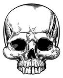 Skull Vintage Retro Woodcut Etched Engraved Style Royalty Free Stock Photography
