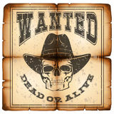Skull wanted dead paper var 4 Royalty Free Stock Photography
