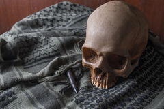 The Skull in war symbol Stock Images