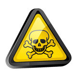 The skull is a warning sign Royalty Free Stock Photos