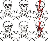 Skull - warning sign Stock Photos