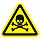 Skull , warning sign Royalty Free Stock Photo
