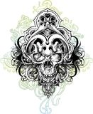 Skull warrior illustration Royalty Free Stock Photos