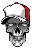 Skull wearing hat and sunglasses Royalty Free Stock Photos