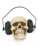 Skull wearing headphones Royalty Free Stock Photo