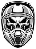 Skull wearing motocross helmet. Vector of skull wearing motocross helmet Stock Photos