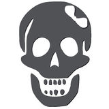 Skull with white bow Royalty Free Stock Photos